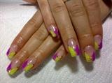 Chevrons – Purple & Yellow