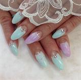 line flower nail
