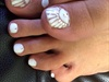 white foot nail