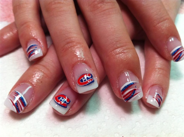 Montreal Canadiens Nails
