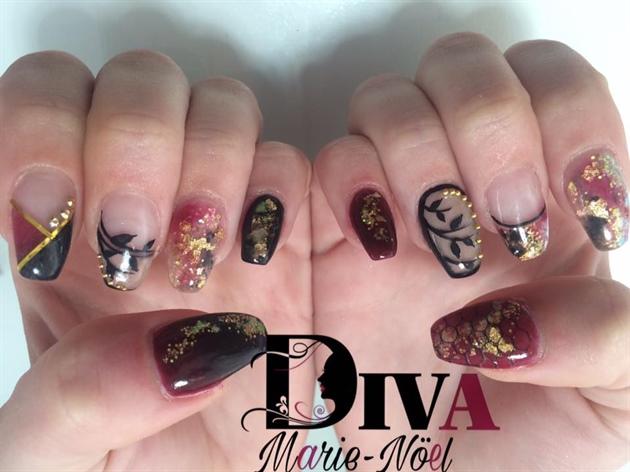 Marron Nails Art