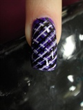 Purple,Black and White stripes