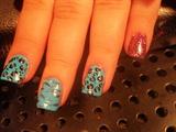leopard tiger nails