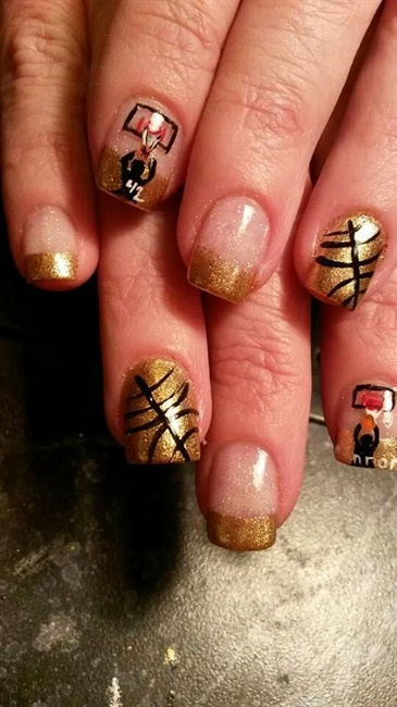 Basketball nails nail art gallery prinsesfo Choice Image
