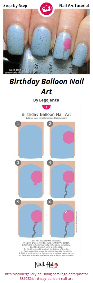 Birthday Balloon Nail Art - Nail Art Gallery