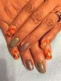 Marble Fall Nails