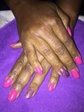 Fushsia Nails