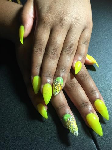 Neon Ombré Nails