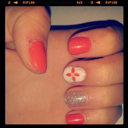Orange Blossom Nail Art Gallery