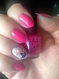 Dia de los Muertos Pink Nail Design