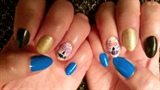 Dia de los Muertos Blue Nail Design
