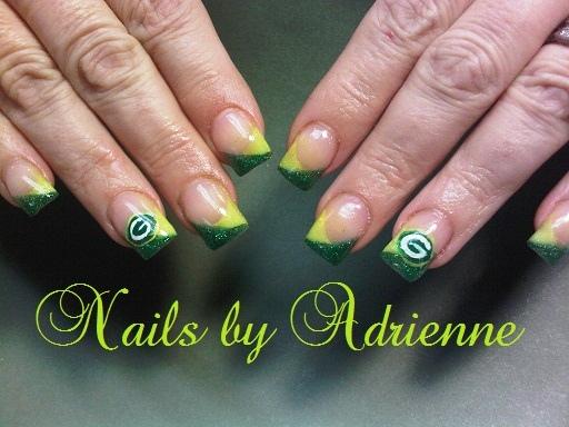 Greenbay Packers Nail Art Gallery