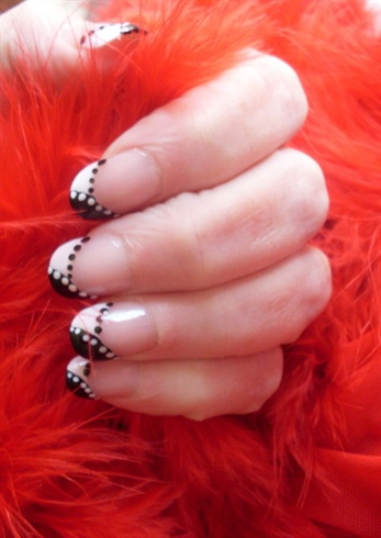 Beautiful black and white manicure