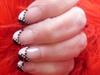 Beautiful black and white manicure
