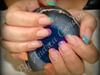 Rainbow tips acrylic nails