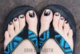 Black N Gold Pedicure