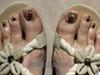 Oriental Theme Nail Art Pedicure