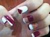 #nails #golden #redWine