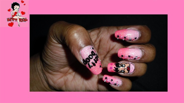 Betty Boop Nail Design