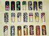 Black, Gold, Brown, Nail Art Designs