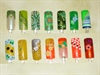 Green, Yellow, Orange Nail Designs
