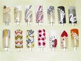 White Multicolor Nail Art Designs