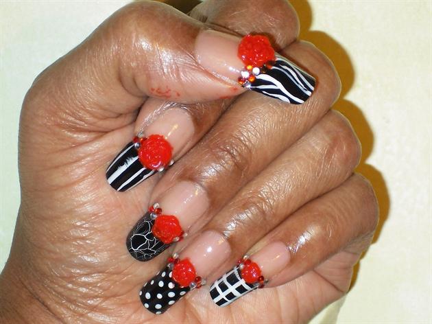 (Long Natural Nails:) Black or White
