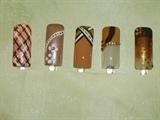 Brown Beige Nails