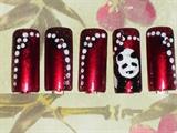 Metallic Red with Panda