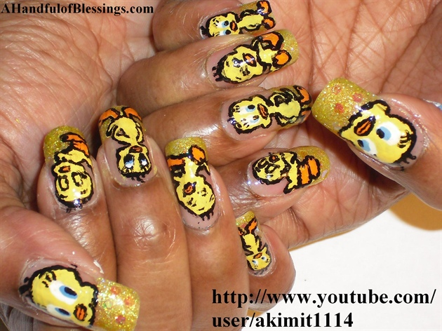Tweety Nail Design