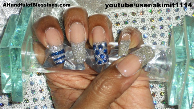 Silver Glitter French