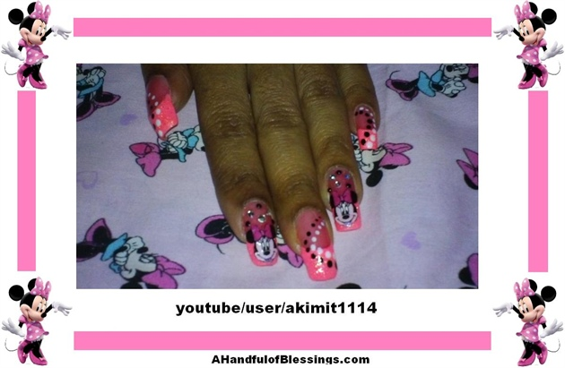 Minnie Mouse Nails (Barbie Pink)