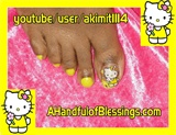 Yellow Hello Kitty Toes