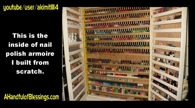 Nail Polish Armoire I Built (INSIDE)