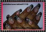 Black Blingy Nail Art Design