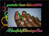 Neon Abstract Nails & Toes