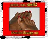 Natural Toenails: Simple Red Oriental