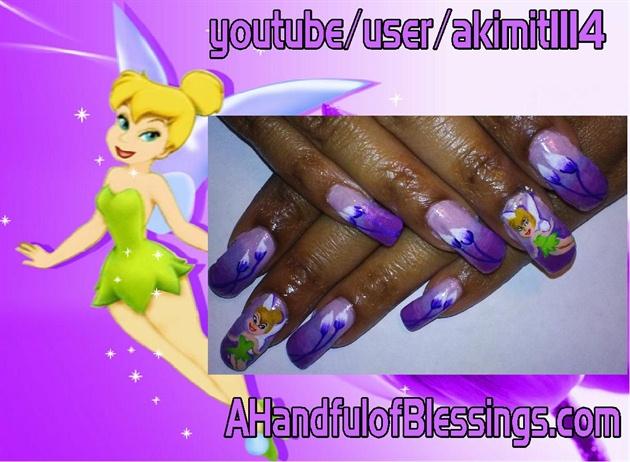 Natural Nails: Purple Tinkerbell