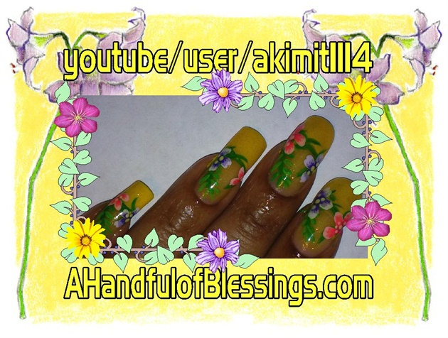 Summer Yellow Floral Nails