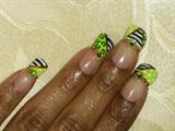 Bright Green Stripes, Dots, Leopard