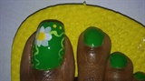 Green Floral Toes