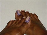 Purple Floral Fimo Toes