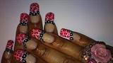 Pink Leopard Polka Dot
