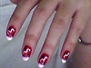 nails in red