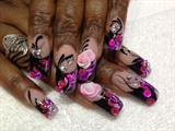 Gel Marble with 3-D Rose