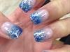 Sparkly Blue Ombré