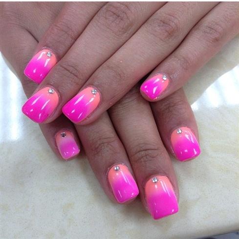 Orange To Pink Ombré