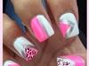 Pink & White Cheetah Design
