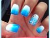 Blue & White Ombré Snowflake Design
