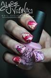 Vera Bradley inspired nail art